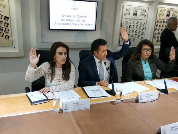 Comité de Adquisiciones aprueba contratación de servicios y arrendamientos del Congreso del Estado